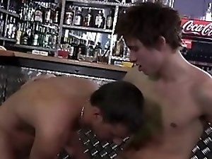 Jock cums while penetrated with gay cock