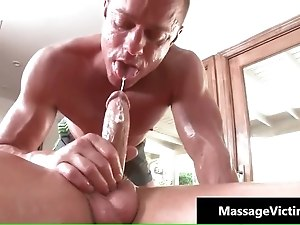 Calvin gets his hard cock rubbed hard