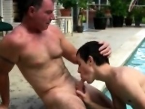 Blonde gay porn movietures Daddy Brett obliges of course, af